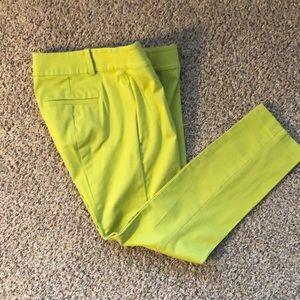 Ann Taylor lime green crop pants